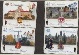 Canada - #1941-1944 Mint 2002 Universities set of 4 VF-NH