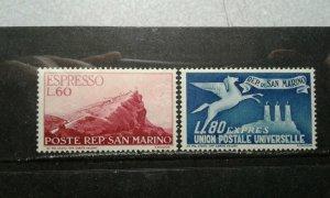 San Marino #E22-23 mint hinged e206 9659