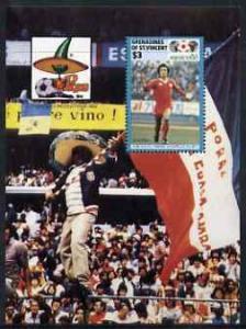 St Vincent - Grenadines 1986 World Cup Football $3 unissu...