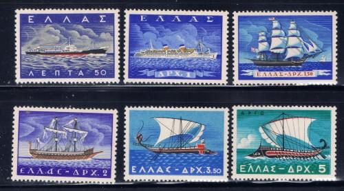 Greece 618-23 Lightly Hinged 1958 Sailing Ships