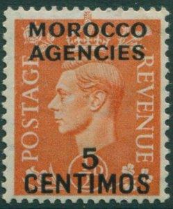 Morocco Agencies 1937 SG182 5c on ½d orange KGVI MLH