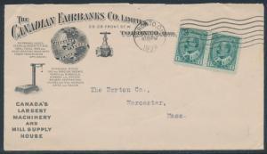 1909 TORONTO, ONT. CDS ILLUST ADVT CVR THE CANADIAN FAIRBANKS Co. BR3767 HSAM