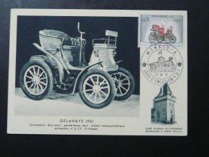 vintage car automobile Delahaye maximum card 1961 Monaco 68339