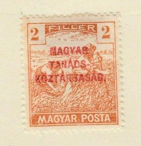 A6P7F229 Ungarn Hongrie Hungría Hungary 1919 optd 2f mh*
