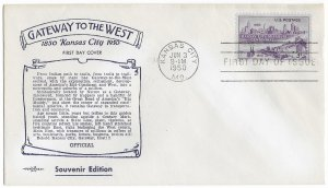 #994 FDC, 3c Kansas City 100th, Pent Arts cachet (4)