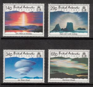 BRITISH ANTARCTIC 1992 Atmospheric Phenomena; Scott 198-201, SG 214-17' MNH