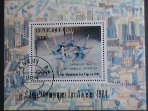 CENTRAL AFRICA-1984- SUMMER OLYMPIC GAMES- LOS ANGELES'84- CTO S/S VERY FINE
