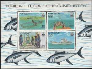 Kiribati MNH S/S 383a Tuna Fishing Industry 1981