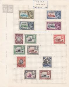 kenya, uganda & tanganyika stamps page ref 17039