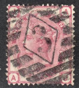 Great Britain Scott 61 plate 15  F+  used with a beautiful SON numeral cancel.