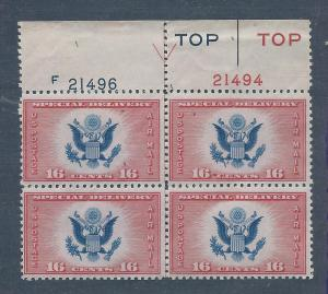 CE2 MNH 16c. Air Mail Special Delivery, scv: $30