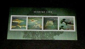 TOPICAL, 2013, MARINE LIFE, GRENADA, FISH, SHEET/4, LOT #130, MNH, LQQK