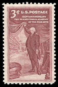 PCBstamps     US #1064 3c Pennsylvania Academy of Arts, MNH, (37)