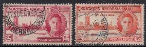 Northern Rhodesia 1946 KGV1 Set Victory SG 46 – 47  ( K156 )