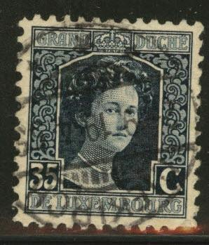 Luxembourg Scott 103 used from 1914-17 set