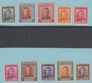 New Zealand 258 - 268 Mint Never Hinged OG ** - No Faults Very Fine!