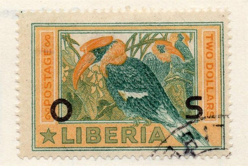 Liberia 1920s Officials Early Issue Fine Used $2. Optd 151454