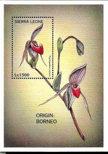 #8218 SIERRA LEONE 1997 FLORA FLOWERS S/SHEET YV BL 360 MNH