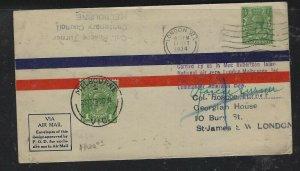 AUSTRALIA COVER (P2304B)1934 AUSTRALIA+GB ON MAC ROBERTSON AIR RACE