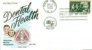 FLUEGEL 1135 Dental Health American Dental Association Dentists 1859-1959