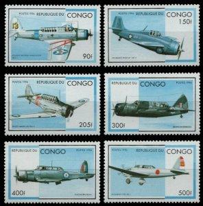 1996 Congo Brazzaville 1484-1489 Airplanes 8,00 €