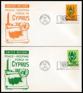 UN FDC #139-140 IN Peace-Keeping - Cachet Craft - Boll Cachet