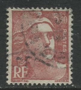 France - Scott 578 - General  Issue -1947 - Used - Single  3.50fr Stamp