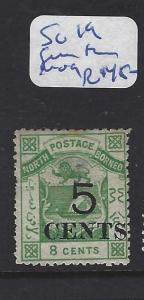 NORTH BORNEO (P2709B)  5C/8C   ARMS, LION  SG 19 GUM THIN   MOG