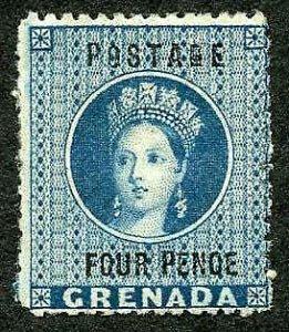 Grenada SG23 4d Blue wmk large star m/m Cat 140 pounds