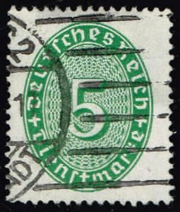 Germany #O65 Official - Numeral; Used (2Stars)