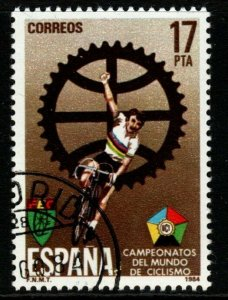 SPAIN SG2783 1984 INTERNATIONAL CYCLING CHAMPIONSHIPS FINE USED