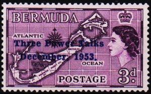 Bermuda. 1953 3d S.G.152 Unmounted Mint