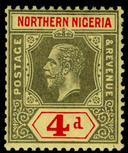 NORTHERN NIGERIA SG44, 4d black & red/yellow, NH MINT.