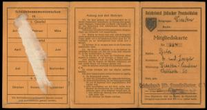 Germany 1935 Jewish Veterans Membership with Stamps Revenues 74758