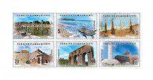 TURKEY / 2020 - Patara Themed Definitive Stamps (Tourism, Sea Turtle), MNH