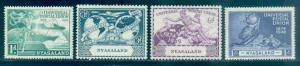 Nyasaland Protectorate #87-90  Mint  Scott $4.05