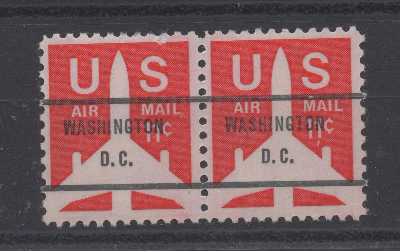 United States US Silhouette of Jet Airliner Washington DC Precancel 11c Stamps