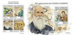 Z08 IMPERF MOZ190428ab MOZAMBIQUE 2019 Charles Darwin MNH ** Postfrisch