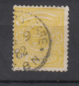 J25707 JLstamps 1875-9 luxembourg used #32 arms, perf 13