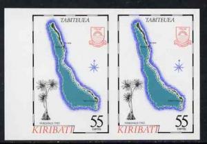 Kiribati 1987 Map 55c (Tabiteuea and pandanus tree) imper...
