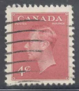 Canada ~ #287 ~ 4c George VI with Postage ~ Used
