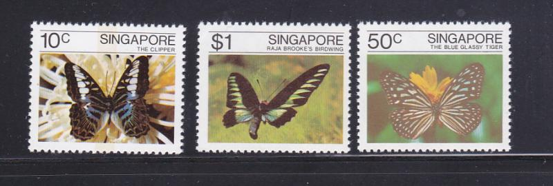 Singapore 387-389 Set MNH Insects, Butterflies (E)