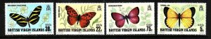 Virgin Is.-Sc#342-5-unused NH set-Insects-Butterflies-id3-1978-