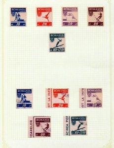 ROMANIA 1930s/40s M&U Incl.Imperfs Sport (Appx 90 Items)(Rom20