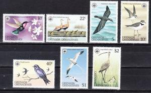 Grenada Grenadines Scott 290-296 Mint NH (Catalog Value $18.75)