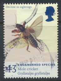 Great Britain SG 2019 SC# 1789  Used Mole Cricket   see details