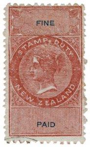 (I.B) New Zealand Revenue : Fine Paid (die I)