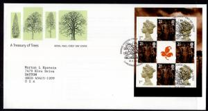 Great Britain Wales 18a Booklet Pane Typed FDC