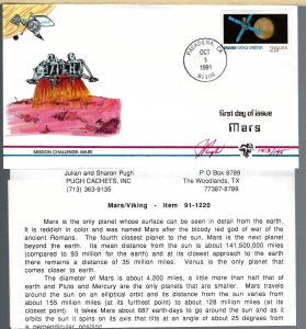 Timely Pugh Designed/Painted Mars Landing Viking FDC...193 covers Created!