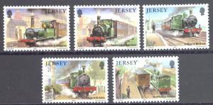 Jersey Sc# 361-365 MNH 1985 10p-34p Railway History